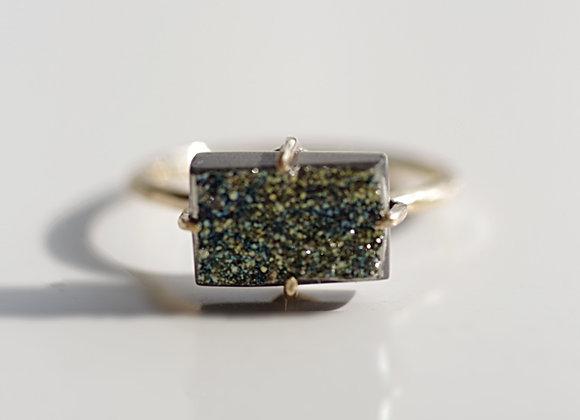 Rainbow Pyrite Ring