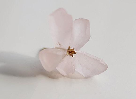 Snow Fossil Earring / Rose Quartz