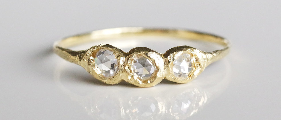 Rose Cut Diamonds Ring