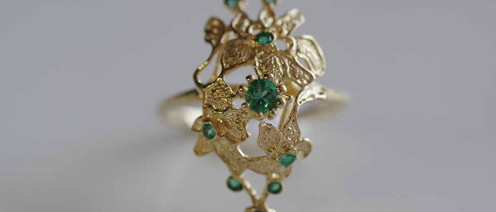 Emerald Lace Ring