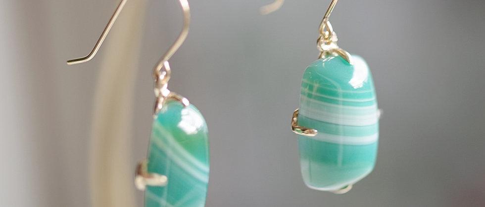 Striped Agate Earrings