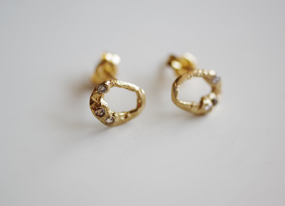 Water Crescent Moon Earrings / Three Wishes Diamonds