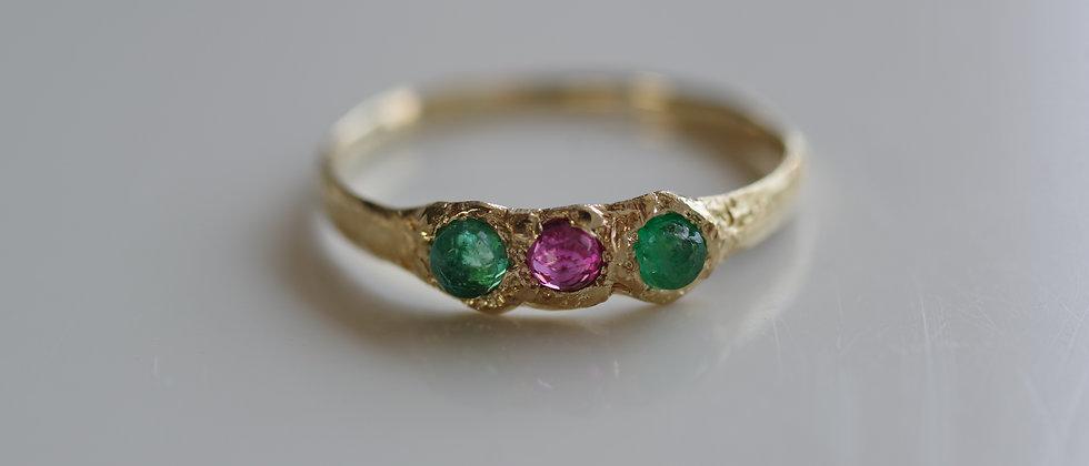 Emerald Ruby Ring