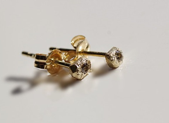 Stone Diamond Earrings