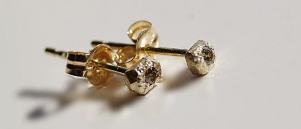 Stone Diamond Earrings