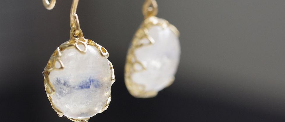 Blue Moon Stone Earrings