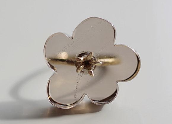 Flower Ring / Smoky Quartz