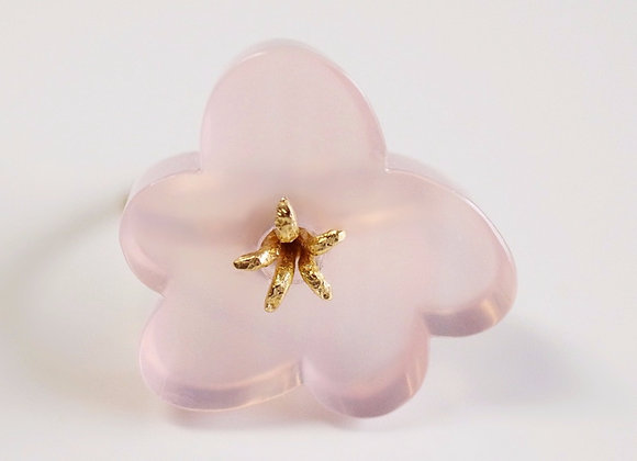 Flower Ring / Rose Quartz