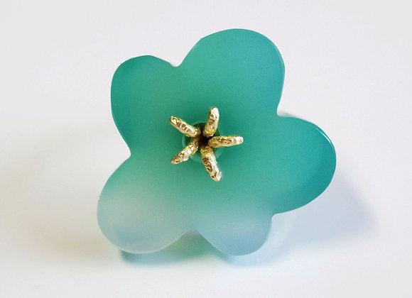 Flower Ring / Green Agate