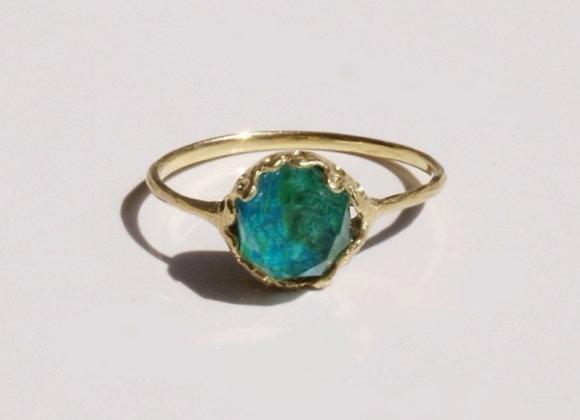 Quartz×Chrysocolla Ring