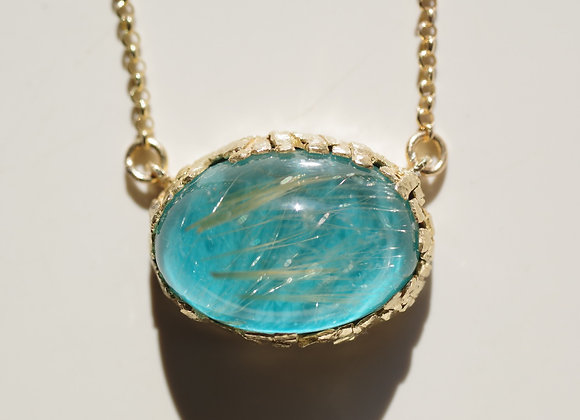 Rutile Quartz×Turquoise Necklace