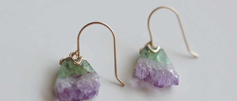 Crystal Agate Earrings