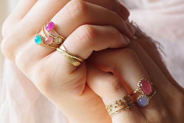 Naturak stone ring