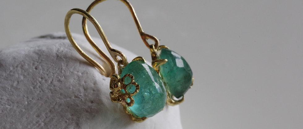 Emerald Lace Earrings