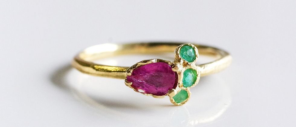 Ruby Paraiba Tourmaline Ring