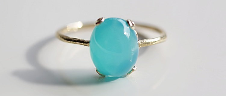 Sea Blue chalcedony Ring