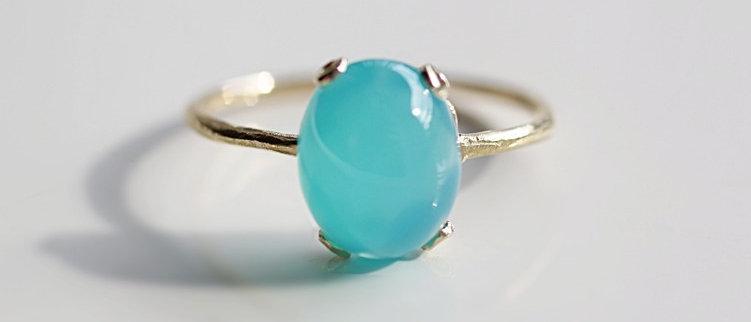 Sea Blue chalcedony Ring