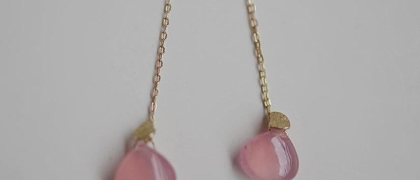 Rose Quoatz Earrings