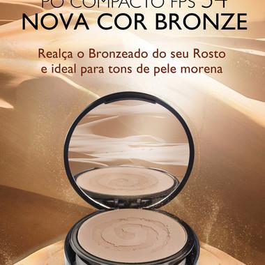 Campanha Pó Compacto FPS 54 - Cor Bronze