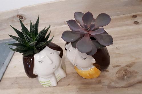 Cute ceramic girls
