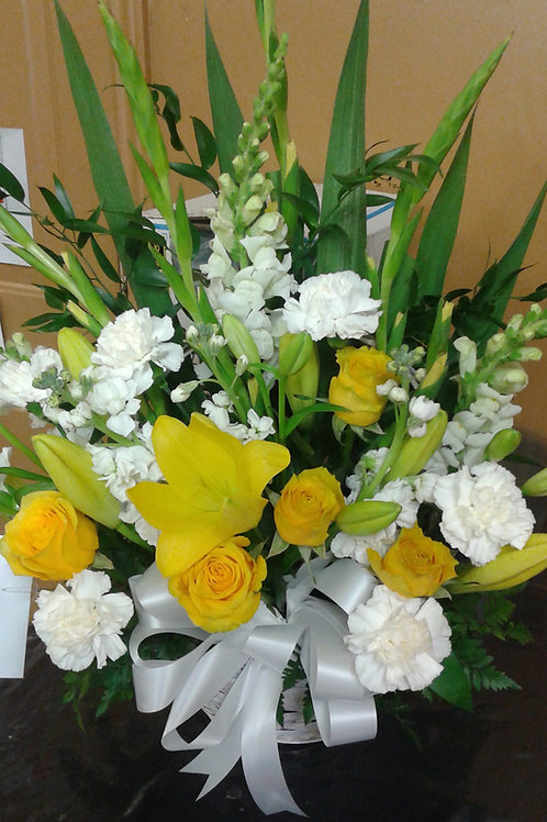 Yellow and white funeral