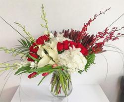 Elegant tropical arrangement for a speci
