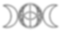 logo chalice well triple goddess moon ve