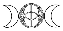 logo chalice well triple goddess moon ve