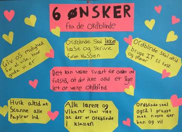 6 ønsker fra de ordblinde