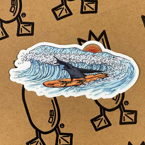 Decal, SURFER COOT, 5 inches