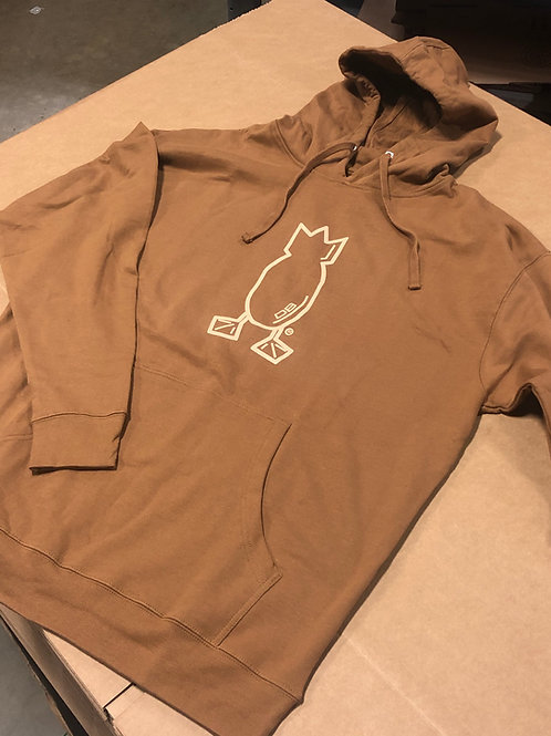 Hoodie, Brown with tan logo