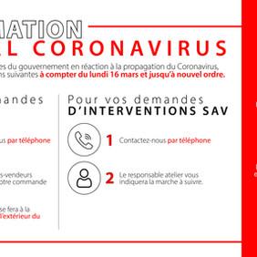 Information coronavirus !