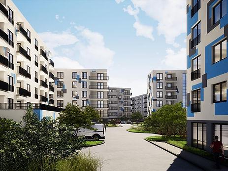 projekt osiedla budynków wielorodzinnych