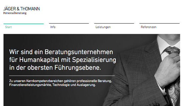 Beratung & Coaching website templates – Luxus-Personalvermittlung