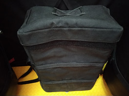 Padded battery pack with built in attachment velcros.