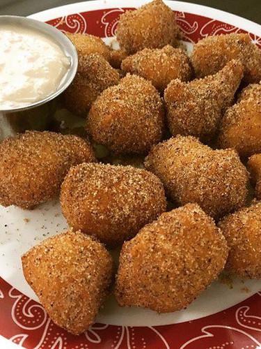 Cinnamon Sugar Naan Bites