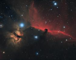 The Horsehead and Flame Nebulas