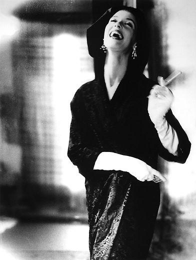 "Lillian Bassman ""Fur Tailored Like Satin - Tailored Like Melton, Barbara Mullen, coat by Ben Khan, New York, Harper's Bazaar"""
