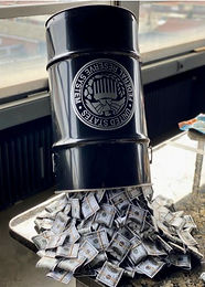 "Philarthrop ""Pouring Money Barrel"""