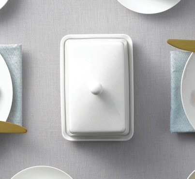White Basics - Butter Dish.
