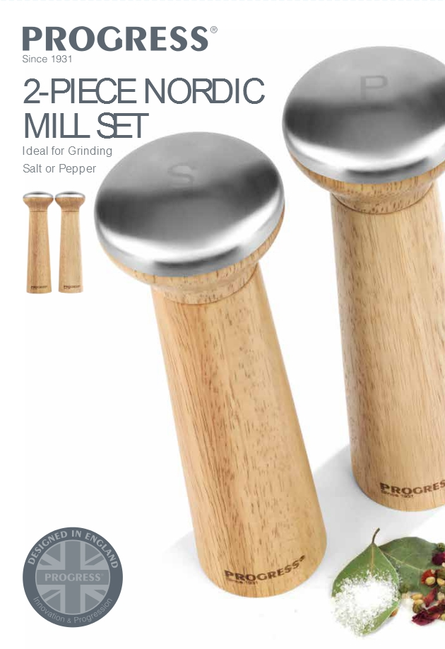 2 Piece Nordic Mill Set
