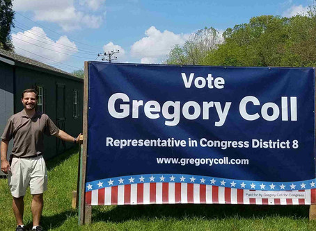 June 2nd vote for Gregory Coll primary deadline fast approaching