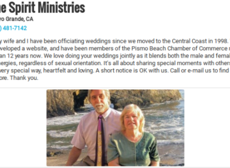 Hey Folk's, We're a Wedding Officiant Dynamic Duo!