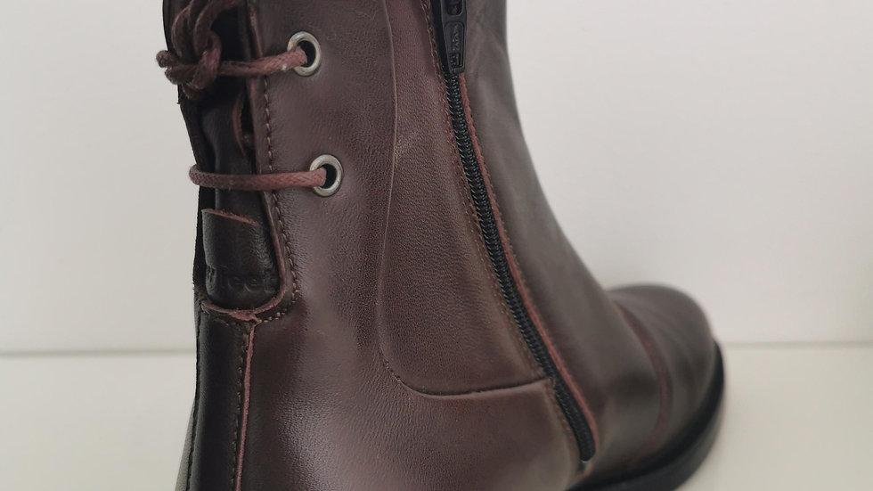 New Feet Laced Back Boot Dark Wine
