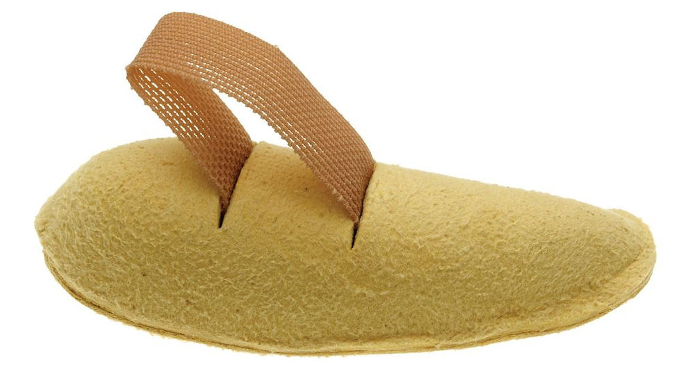 Crescent Shaped Chamois Leather Toe Props | Comfortable Elasticated Toe Loop