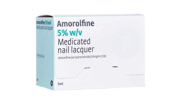 AMOROLFINE MEDICATED NAIL FUNGAL LACQUER