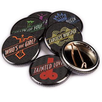 Soho Noir series pin badges