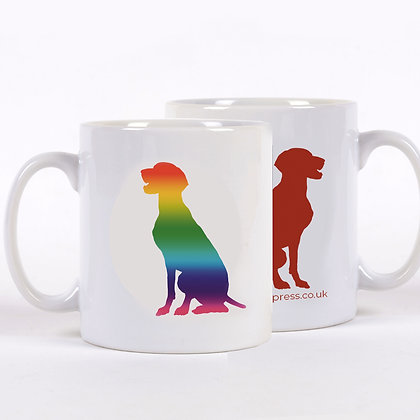 Rainbow Dog Mug