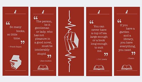 BookLovers Bookmark Set of 5