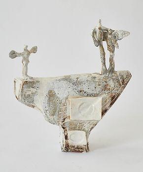 Figurative ceramic sculpture by artist Caroline Winn